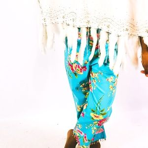 Beaded Floral Pants